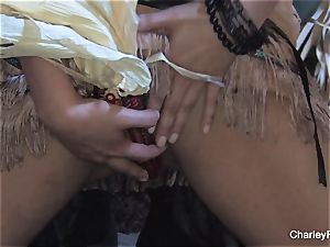 big-boobed Charley chase is insane for the harvest