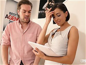 uncovered audition - gonzo casting pulverize with big-boobed honey