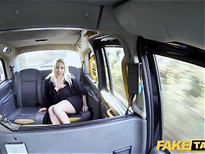 faux taxi towheaded mummy Victoria Summers humped in a taxi