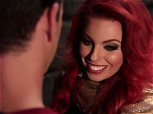Britney Amber fellates off a super-naughty superhero