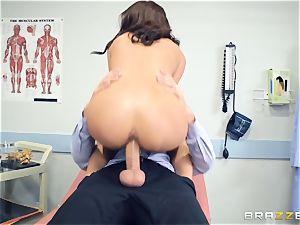 Kara faux medical snatch check up