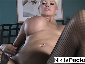 point of view fucking Nikita Von James with a fat meatpipe