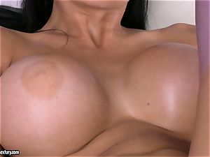 Aletta Ocean playing her private magic wand