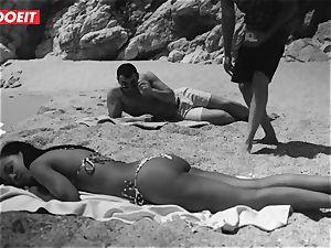 LETSDOEIT - red-hot dark-hued teenage drilled rock hard At The Beach