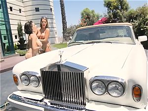 August Ames and Darcie Dolce get their booties bubbly