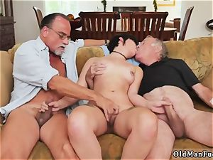 Mature sucks young lollipop More 200 years of meatpipe for this wondrous brunette!