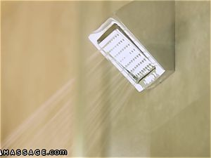 NuruMassage bathroom and Quickie with Mercedes Carrera