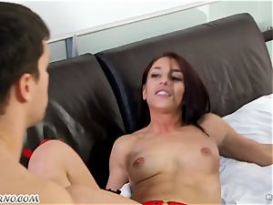 buxomy cougar Cherie DeVille wants sex with her hubby and his best friend Mischa Brooks