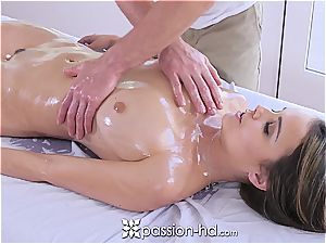 Passion-HD - Dillion Harper wet rubdown with facial cumshot